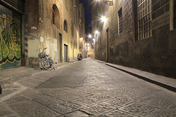 Deserted street, Florence, Italy, Europe. .  John offers private photo tours in Denver, Boulder and throughout Colorado, USA.  Year-round. .  John offers private photo tours in Denver, Boulder and throughout Colorado. Year-round.