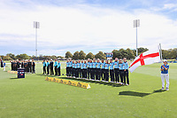 National anthems prior to the 1st ODI women's cricket international between New Zealand White Ferns and England at Hagley Oval in Christchurch, New Zealand on Tuesday, 23 February 2021. Photo: Martin Hunter / lintottphoto.co.nz