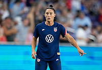 ORLANDO, FL - MARCH 05: Ali Krieger #11 of the United States warms up during a game between England and USWNT at Exploria Stadium on March 05, 2020 in Orlando, Florida.