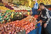 Tripoli, Libya - Fruit and Vegetable Market, with Egyptian Vendor