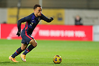WIENER NEUSTADT, AUSTRIA - NOVEMBER 16: Sergino Dest #2 of the United States moves with the ball during a game between Panama and USMNT at Stadion Wiener Neustadt on November 16, 2020 in Wiener Neustadt, Austria.