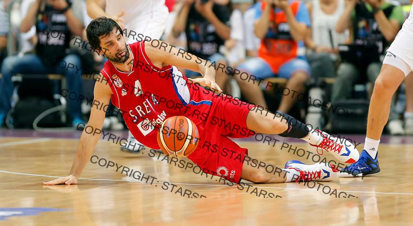 Milos Teodosic Srbija - Rusija prijateljska utakmica, Serbia - Russia friendly basketball game EUROBASKET 2015, 16.8.2015.<br /> 16. Avgust  2015. (credit image & photo: Pedja Milosavljevic / STARSPORT)