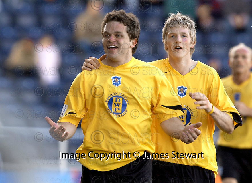 07/05/2005         Copyright Pic : James Stewart.File Name : jspa13_falkirk_v_qots.DAVID MCNIVEN SPOILS THE PARTY BY SCORING QUEEN OF THE SOUTH'S WINNER....Payments to :.James Stewart Photo Agency 19 Carronlea Drive, Falkirk. FK2 8DN      Vat Reg No. 607 6932 25.Office     : +44 (0)1324 570906     .Mobile   : +44 (0)7721 416997.Fax         : +44 (0)1324 570906.E-mail  :  jim@jspa.co.uk.If you require further information then contact Jim Stewart on any of the numbers above.........A