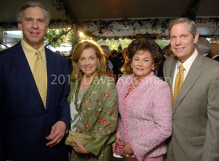 From left: Jim and Nancy Gordon with Barbara and Corby Robertson at the Bayou Bend Garden Party  Sunday April 05,2009.(Dave Rossman/For the Chronicle)
