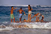 Polynesian children, Rangiroa, French Polynesia, Pacific Ocean
