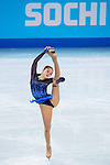 Yulia Lipnitskaya of Russia compete in the Figure Skating Team Ice Dance Short Program during the 2014 Sochi Olympic Winter Games at Iceberg Skating Palace on February 8, 2014 in Sochi, Russia. Photo by Victor Fraile / Power Sport Images