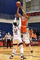 SAN ANTONIO, TX - NOVEMBER 20, 2018: The University of Texas at San Antonio Roadrunners fall to the Texas State University Bobcats 68-60 at the UTSA Convocation Center. (Photo by Jeff Huehn)
