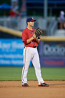 Harrisburg Senators shortstop Carter Kieboom (5) during a game against the Akron RubberDucks on August 18, 2018 at FNB Field in Harrisburg, Pennsylvania.  Akron defeated Harrisburg 5-1.  (Mike Janes/Four Seam Images)