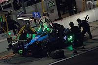 28-31 January, 2016, Daytona Beach, Florida USA<br /> 26, Chevrolet, ORECA FLM09, PC, Adam Merzon, Ryan Eversley, Don Yount, Ryan Lewis, John Falb makes a pit stop.<br /> ©2016, F. Peirce Williams