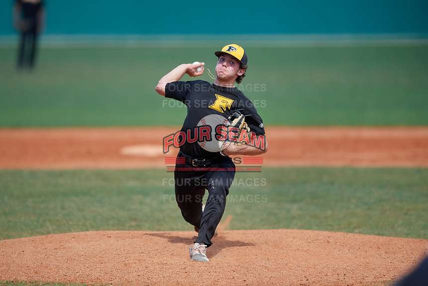 Parker Johnson (29) during the WWBA World Championship at Terry Park on October 10, 2020 in Fort Myers, Florida.  Parker Johnson, a resident of Denver, North Carolina who attends Combine Academy.  (Mike Janes/Four Seam Images)