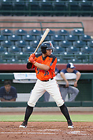 AZL Giants right fielder Diego Rincones (35) at bat against the AZL Padres 2 on July 13, 2017 at Scottsdale Stadium in Scottsdale, Arizona. AZL Giants defeated the AZL Padres 2 11-3. (Zachary Lucy/Four Seam Images)
