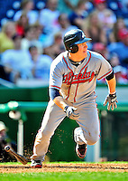 25 September 2010: Atlanta Braves outfielder Nate McLouth in action against the Washington Nationals at Nationals Park in Washington, DC. The Braves shut out the Nationals 5-0 to even their 3-game series at one win apiece. The Braves' victory was the 2500th career win for skipper Bobby Cox. Cox will retire at the end of the 2010 season, crowning a 29-year managerial career. Mandatory Credit: Ed Wolfstein Photo