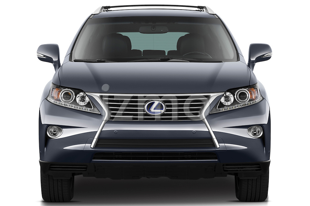 Straight front view of a 2013 Lexus RX 450H