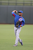 Charcer Burks #24 of the AZL Cubs during a game against the AZL Rangers at Surprise Stadium on July 6, 2014 in Surprise, Arizona. AZL Rangers defeated the AZL Cubs, 7-5. (Larry Goren/Four Seam Images)