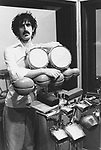 FRANK ZAPPA 1982 in his Laurel Canyon home studio.