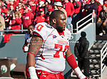 Houston Cougars offensive linesman Chris Thompson (70) in action during the Ticket City Bowl game between the Penn State Nittany Lions and the University of Houston Cougars, played at the Cotton Bowl Stadium in Dallas, Texas. Houston defeats Penn State 30 to 14.