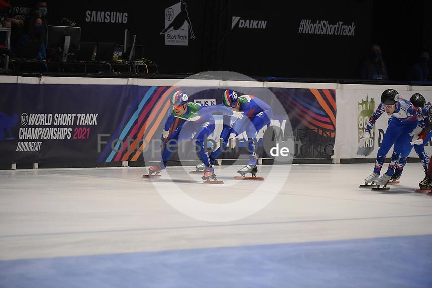 SPEEDSKATING: DORDRECHT: 06-03-2021, ISU World Short Track Speedskating Championships, SF 5000m Relay, (ITA), ©photo Martin de Jong