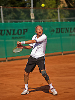 Netherlands, Amstelveen, August 22, 2015, Tennis,  National Veteran Championships, NVK, TV de Kegel,  Men's 55+, Rolf Thung<br /> Photo: Tennisimages/Henk Koster