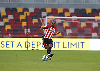 7th November 2020; Brentford Community Stadium, London, England; English Football League Championship Football, Brentford FC versus Middlesbrough; Ethan Pinnock of Brentford