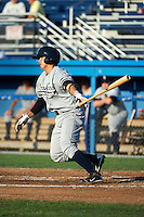 Staten Island Yankees third baseman Fu-Lin Kuo #61 during a game against the Batavia Muckdogs at Dwyer Stadium on July 30, 2012 in Batavia, New York.  Batavia defeated Staten Island 5-4 in 11 innings.  (Mike Janes/Four Seam Images)