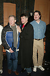 Harvey Evans and  Bryan Batt with Gypsy Robe Winner Mervin Foard.Attending the Opening Night Gypsy Robe Ceremony for LA CAGE aux FOLLES at the Marquis Theatre in New York City..December 9, 2004.© Walter McBride /
