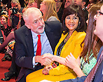 © Joel Goodman - 07973 332324 . 24/09/2016 . Liverpool , UK . The two candidates and their partners shake hands ahead of the Labour Party leadership declaration in the campaign between Jeremy Corbyn and Owen Smith , at the Liverpool Arena and Convention Centre ahead of the party's 2016 Conference . Photo credit : Joel Goodman