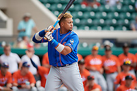 St. Lucie Mets Jhoan Urena (41) during the Home Run Derby before the Florida State League All-Star Game on June 17, 2017 at Joker Marchant Stadium in Lakeland, Florida.  FSL North All-Stars defeated the FSL South All-Stars  5-2.  (Mike Janes/Four Seam Images)