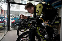 preparations for Stage 9 (ITT): Riccione to San Marino (34.7km)<br /> 102nd Giro d'Italia 2019<br /> <br /> ©kramon