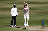 Sam Cook in bowling action for Essex during Warwickshire CCC vs Essex CCC, LV Insurance County Championship Group 1 Cricket at Edgbaston Stadium on 25th April 2021