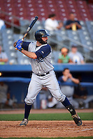 Brooklyn Cyclones first baseman Zach Mathieu (32) during the first game of a doubleheader against the Connecticut Tigers on September 2, 2015 at Senator Thomas J. Dodd Memorial Stadium in Norwich, Connecticut.  Brooklyn defeated Connecticut 7-1.  (Mike Janes/Four Seam Images)