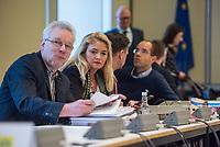 """10. Sitzung des 2. Untersuchungsausschusses <br /> der 18. Wahlperiode des Berliner Abgeordnetenhaus - """"BER II"""" - am Freitag den 1. Maerz 2019.<br /> Der Ausschuss soll die Ursachen, Konsequenzen und Verantwortung fuer die Kosten- und Terminueberschreitungen des im Bau befindlichen Flughafens """"Berlin Brandenburg Willy Brandt"""" aufklaeren.<br /> Als oeffentlicher Tagesordnungspunkt war die Beweiserhebung durch Vernehmung der Zeugin Heike Foelster vorgesehen. Heike Foelster ist seit 2013 Geschaeftsfuehrerin Finanzen (CFO) beim Flughafen Berlin Brandenburg.<br /> Im Bild 2.vl.: Kristin Brinker, AfD.<br /> 27.2.2019, Berlin<br /> Copyright: Christian-Ditsch.de<br /> [Inhaltsveraendernde Manipulation des Fotos nur nach ausdruecklicher Genehmigung des Fotografen. Vereinbarungen ueber Abtretung von Persoenlichkeitsrechten/Model Release der abgebildeten Person/Personen liegen nicht vor. NO MODEL RELEASE! Nur fuer Redaktionelle Zwecke. Don't publish without copyright Christian-Ditsch.de, Veroeffentlichung nur mit Fotografennennung, sowie gegen Honorar, MwSt. und Beleg. Konto: I N G - D i B a, IBAN DE58500105175400192269, BIC INGDDEFFXXX, Kontakt: post@christian-ditsch.de<br /> Bei der Bearbeitung der Dateiinformationen darf die Urheberkennzeichnung in den EXIF- und  IPTC-Daten nicht entfernt werden, diese sind in digitalen Medien nach §95c UrhG rechtlich geschuetzt. Der Urhebervermerk wird gemaess §13 UrhG verlangt.]"""