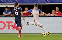 Arlington, TX - Saturday July 22, 2017: Jorge Villafaña during a 2017 Gold Cup Semifinal match between the men's national teams of the United States (USA) and Costa Rica (CRC) at AT&T stadium.