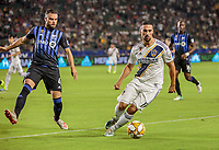 CARSON, CA - SEPTEMBER 21: Sebastian Lletget #17 of the Los Angeles Galaxy traps a ball during a game between Montreal Impact and Los Angeles Galaxy at Dignity Health Sports Park on September 21, 2019 in Carson, California.