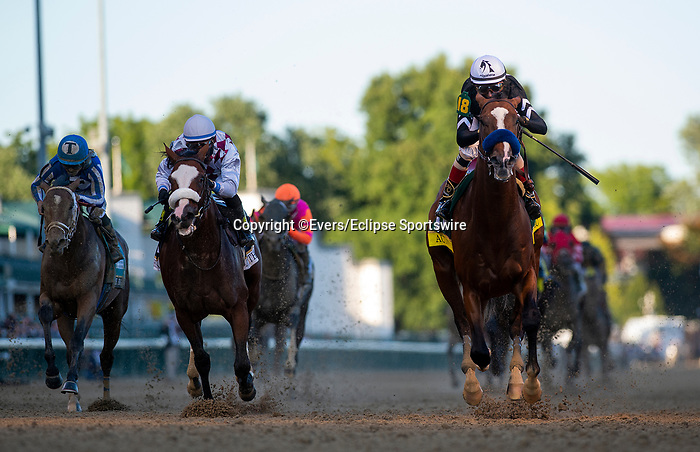 September 5, 2020: Authentic with John Velazquez aboard wins the 2020 Kentucky Derby at Churchill Downs in Louisville, Kentucky, on September 05, 2020. Evers/Eclipse Sportswire/CSM