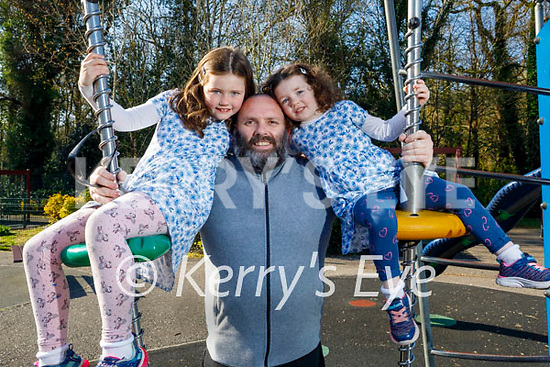 Enjoying the playground in the Killarney National park on Saturday, l to r: Molly, Richard and Hannah Ferris.