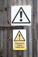 Chemical store signs