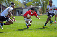 Jona Mataiciwa scores during the rugby union match between New Zealand Schools Barbarians and Fiji Schools at St Paul's Collegiate in Hamilton, New Zealand on Friday, 4 October 2019. Photo: Dave Lintott / lintottphoto.co.nz