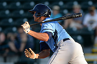 Charlotte Stone Crabs designated hitter Mike Marjama (20) at bat during a game against the Bradenton Marauders on April 22, 2015 at McKechnie Field in Bradenton, Florida.  Bradenton defeated Charlotte 7-6.  (Mike Janes/Four Seam Images)
