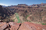 Colorado River and Phantom Ranch from the South Kaibab Trail, Grand Canyon, Arizona. .  John offers private photo tours in Grand Canyon National Park and throughout Arizona, Utah and Colorado. Year-round. . John offers private photo tours in Grand Canyon National Park and throughout Arizona, Utah and Colorado. Year-round.