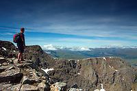 The summit of Ben Nevis, Britain's highest mountain, Lochaber