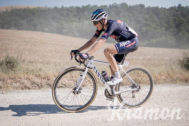14th Strade Bianche 2020<br /> Siena > Siena: 184km (ITALY)<br /> <br /> delayed 2020 (summer!) edition because of the Covid19 pandemic > 1st post-Covid19 World Tour race after all races worldwide were cancelled in march 2020 by the UCI