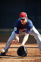 Minnesota Twins first baseman Joe Mauer (7) during a Spring Training practice on March 1, 2016 at Hammond Stadium in Fort Myers, Florida.  (Mike Janes/Four Seam Images)
