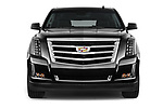 Car photography straight front view of a 2018 Cadillac Escalade ESV 2WD Luxury 5 Door SUV