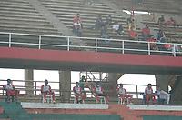 TULUA - COLOMBIA, 16-06-2021:  Cortuluá y Leones F.C. en partido por la fecha 21, cuadrangulares semifinales, como parte del Torneo BetPlay DIMAYOR I 2021 jugado en el estadio Doce de Octubre de la ciudad de Tuluá. / Cortulua and Leones F.C. in the match for the date 21, semifinal home runs, as part of BetPlay DIMAYOR Tournament I 2021 played at Doce de Octubre stadium in Tulua city. Photo: VizzorImage / Juan Jose Horta / Cont