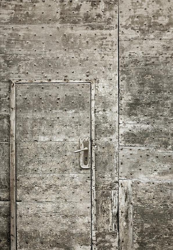 Old door, Alghero, Sardinia, Italy.