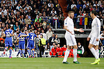 Real Madrid´s Benzema and Cristiano Ronaldo and Schakle 04  Huntelaar and Howedes during Champions League soccer match at Santiago Bernabeu stadium in Madrid, Spain. March, 10, 2015. (ALTERPHOTOS/Caro Marin)