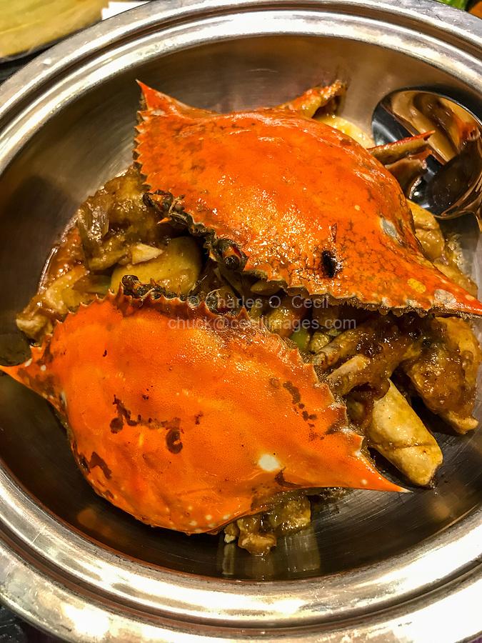 Nanjing, Jiangsu, China.  Crabs.