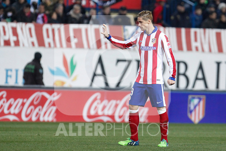 Atletico de Madrid´s Fernando Torres during 2014-15 `Copa del Rey´ Spanish Cup match between Atletico de Madrid and Real Madrid at Vicente Calderon stadium in Madrid, Spain. January 07, 2015. (ALTERPHOTOS/Victor Blanco)