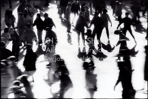 Ice Skaters with Reflections<br />