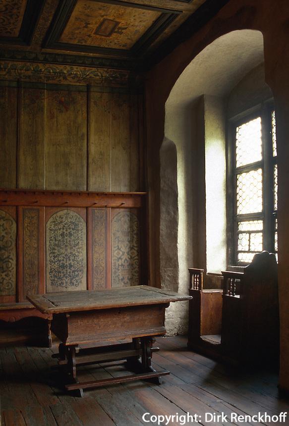 Deutschland, Sachsen-Anhalt, Lutherstube im Lutherhaus in Wittenberg, Unesco-Weltkulturerbe